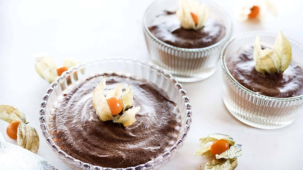 Foto: Mousse de chocolate.