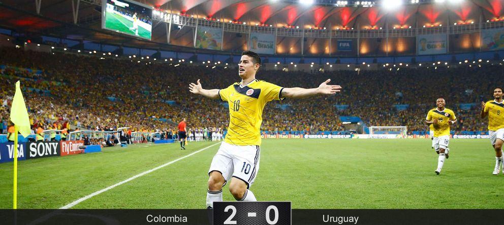 James Rodríguez se erige en figura mundial y su Colombia ya reta a la anfitriona Brasil