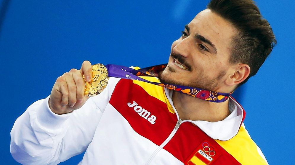 Foto: Damián Quintero, con la medalla de oro conseguida en los Juegos Europeos de Bakú (Efe).