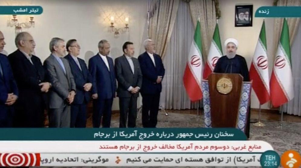 Foto: El presidente Hasan Rohaní habla en televisión sobre el acuerdo nuclear en Teherán, el pasado 8 de mayo. (Reuters)