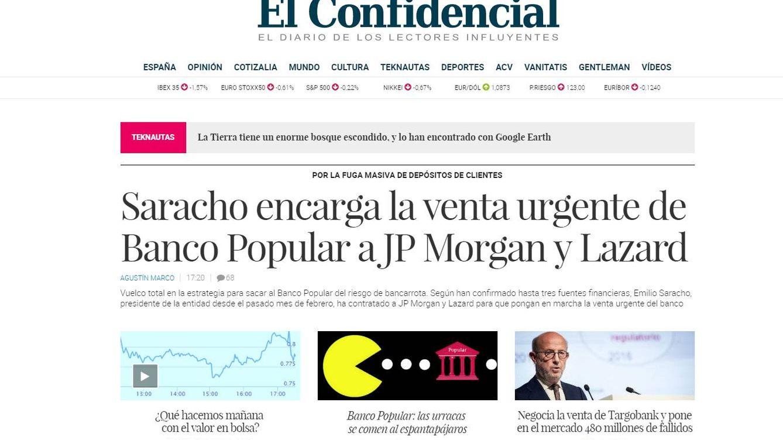 Historia de una exclusiva (El Confidencial) y cronología de una quiebra (Banco Popular)