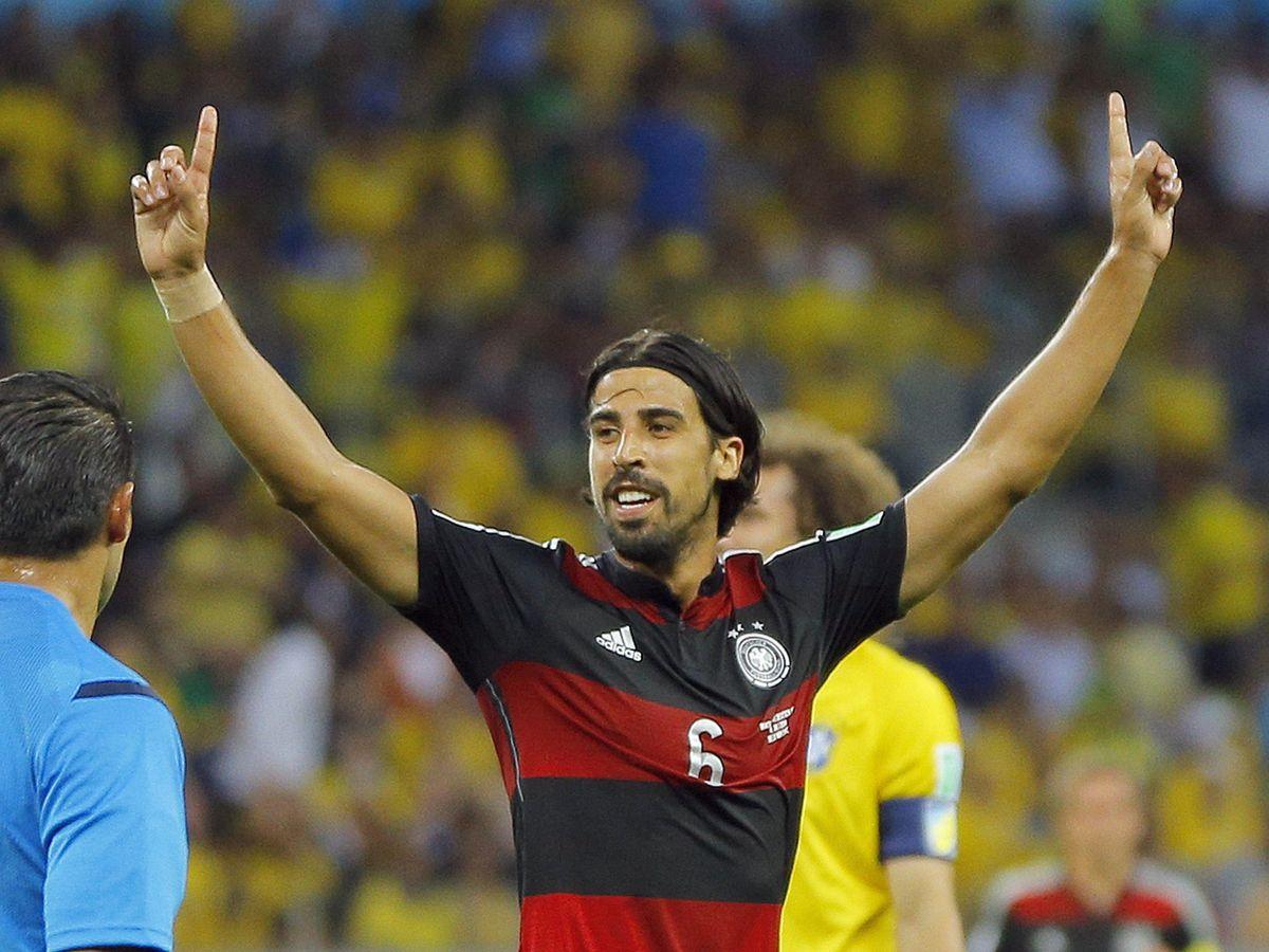 Foto: Khedira, en la histórica semifinal entre Brasil y Alemania del Mundial 2014. (Efe)
