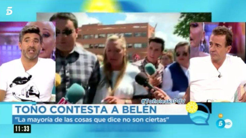 Toño Sanchís responde a Belén en la versión veraniega de 'El programa del verano'.