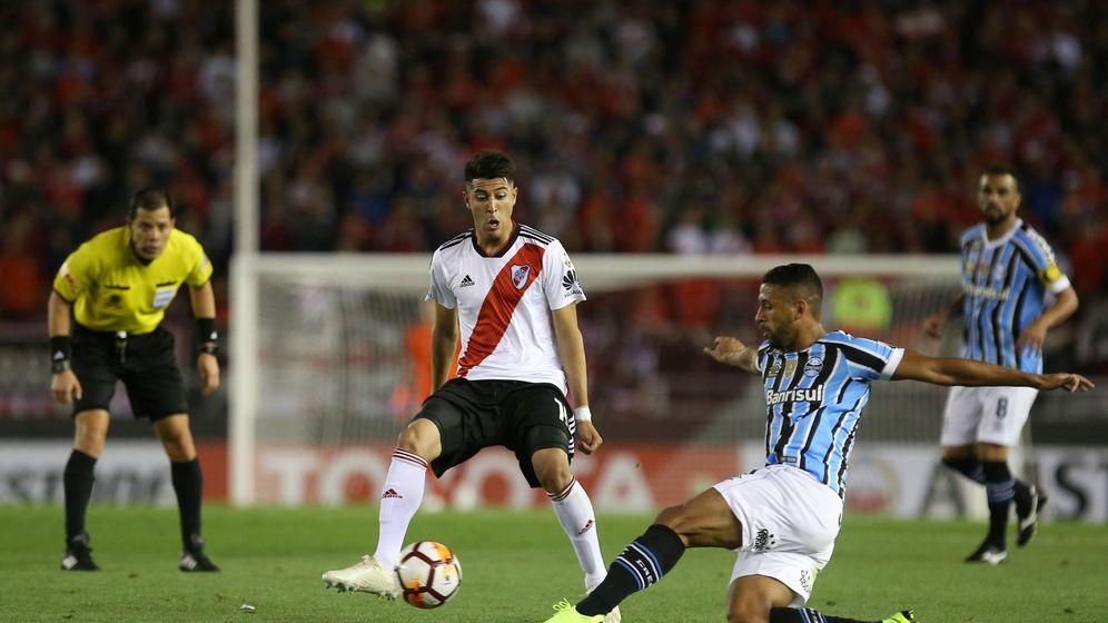 Foto: Exequiel Palacios, en la Libertadores. (Reuters)
