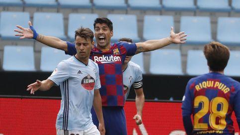 Al Barcelona se le escapa media Liga en Vigo y Luis Suárez culpa a Quique Setién