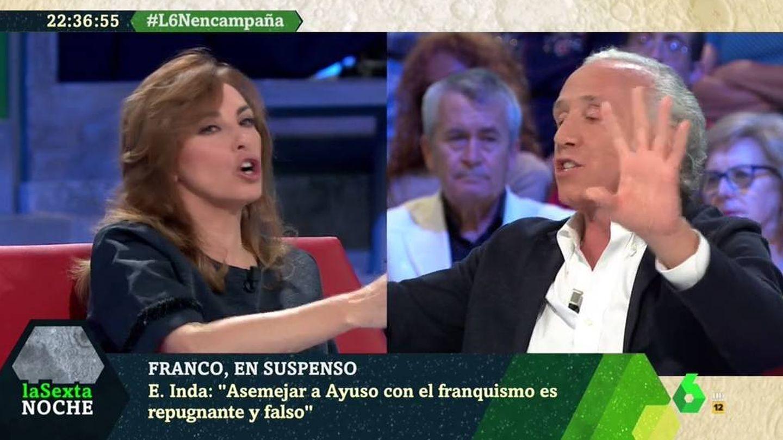Angélica Rubio y Eduardo Inda, en 'La Sexta noche'. (Atresmedia).