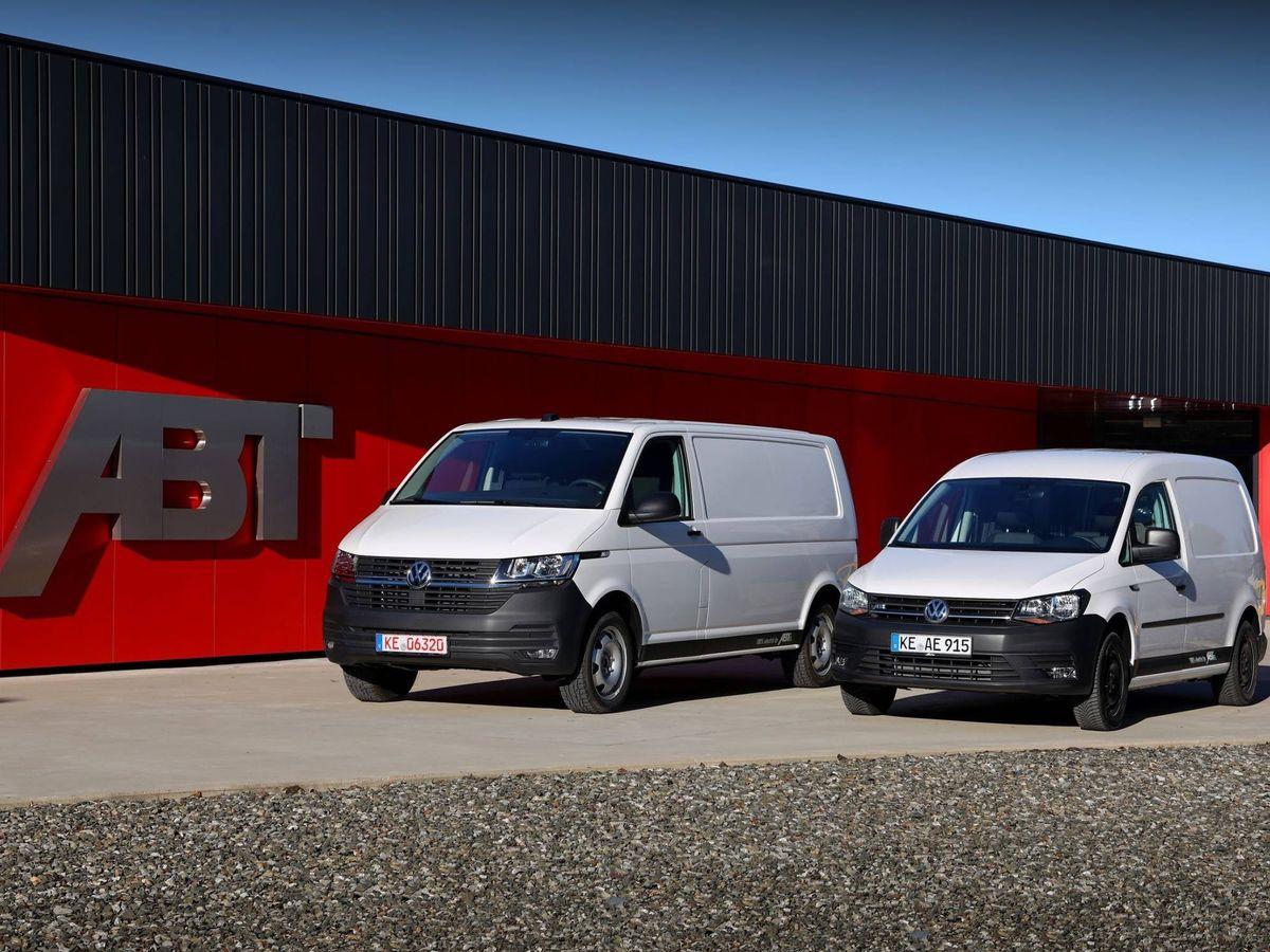 Foto: Volkswagen e-Transporter y e-Caddy en las instalaciones de la compañía alemana ABT.