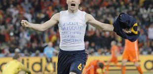 Post de Nadie celebró el gol de Iniesta como él: