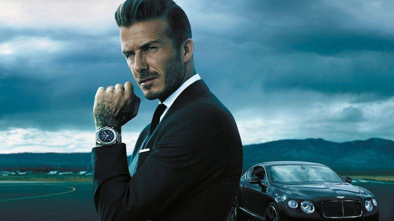 David en una imagen publicitaria de la marca de relojes Breitling.