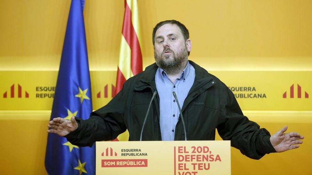 Foto: El presidente de ERC, Oriol Junqueras, durante una rueda de prensa. (EFE)