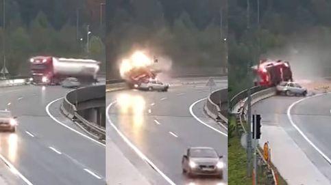 La imprudencia de un conductor mata a un camionero al tirarlo por un precipicio