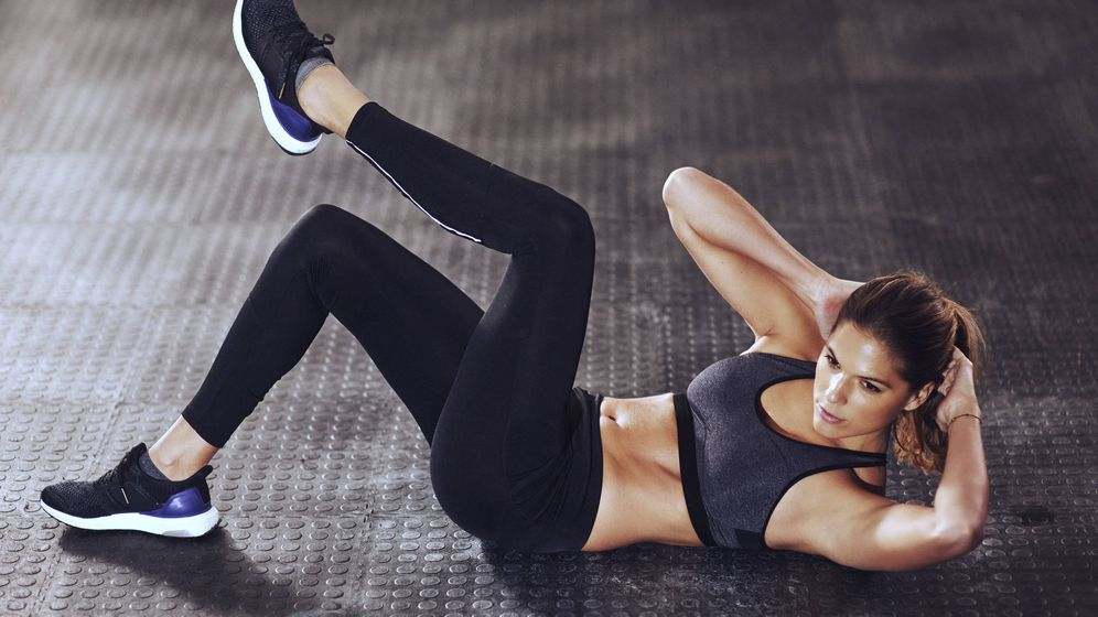 Foto: Uno de los 12 ejercicios que harás en solo siete minutos. (iStock)