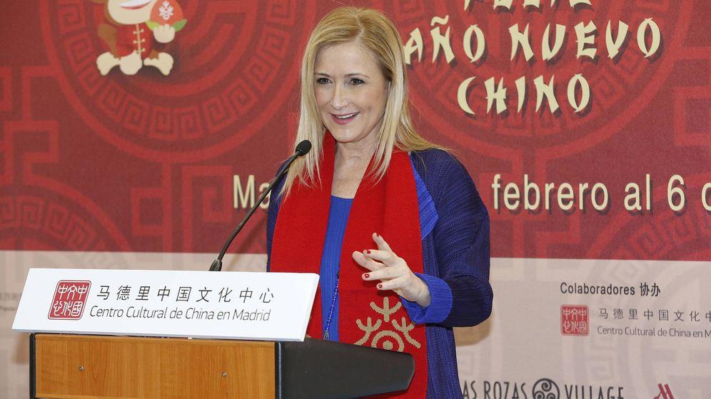 Foto: La presidenta Cristina Cifuentes, el año pasado en la presentación del año chino