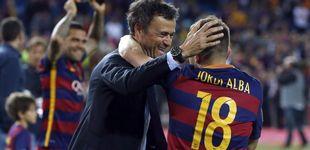 Post de Por qué Luis Enrique tiene más que perder que Jordi Alba