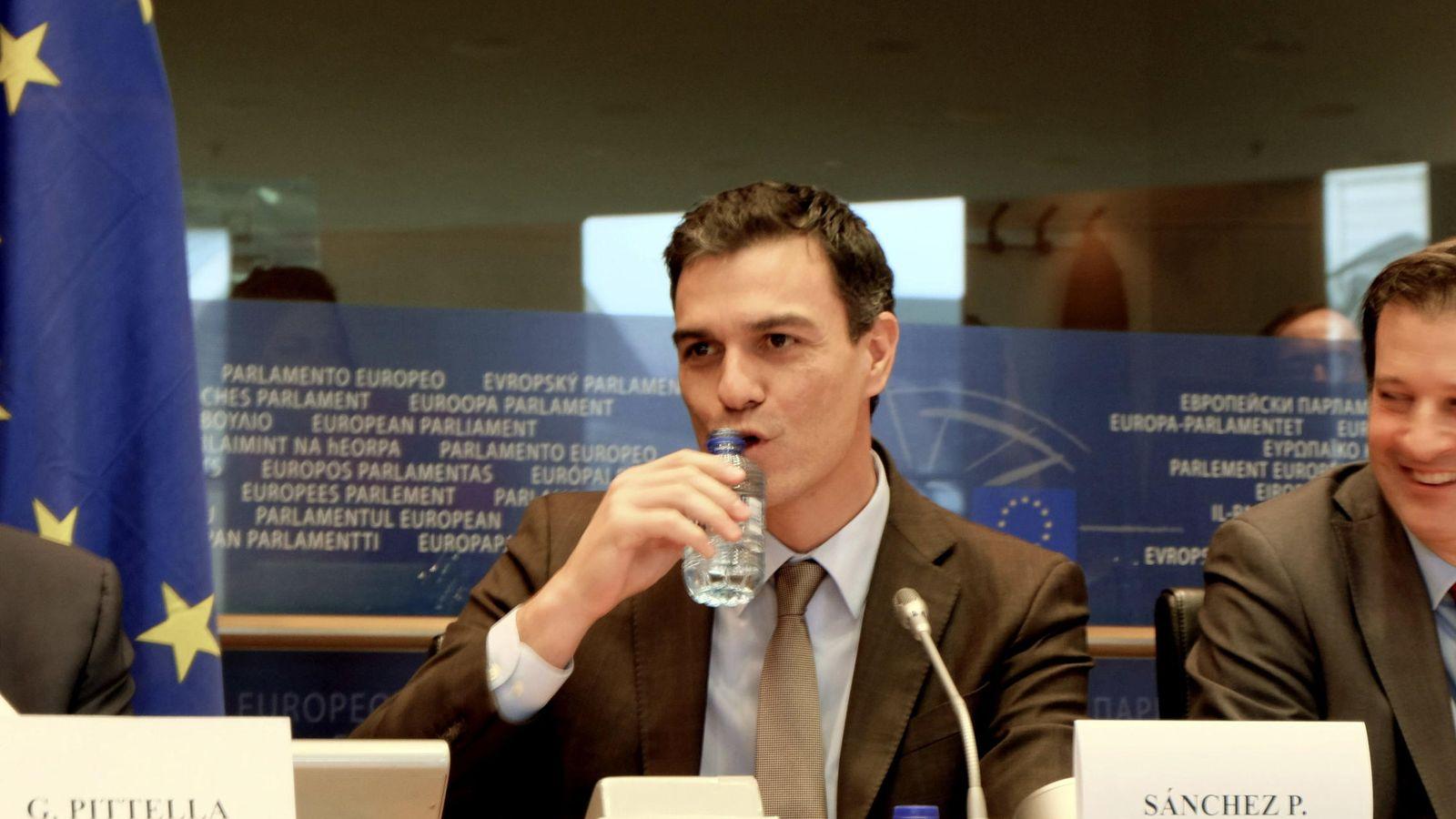 Foto:  El secretario general del PSOE, Pedro Sánchez, en el Parlamento Europeo. (EFE)