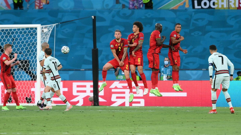 Cristiano Ronaldo puso a prueba a Courtois. (EFE)