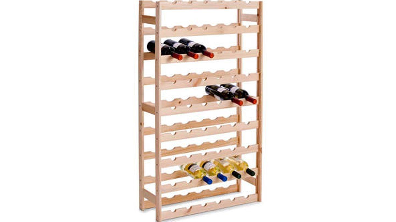 Botellero de madera para 54 botellas Zeller