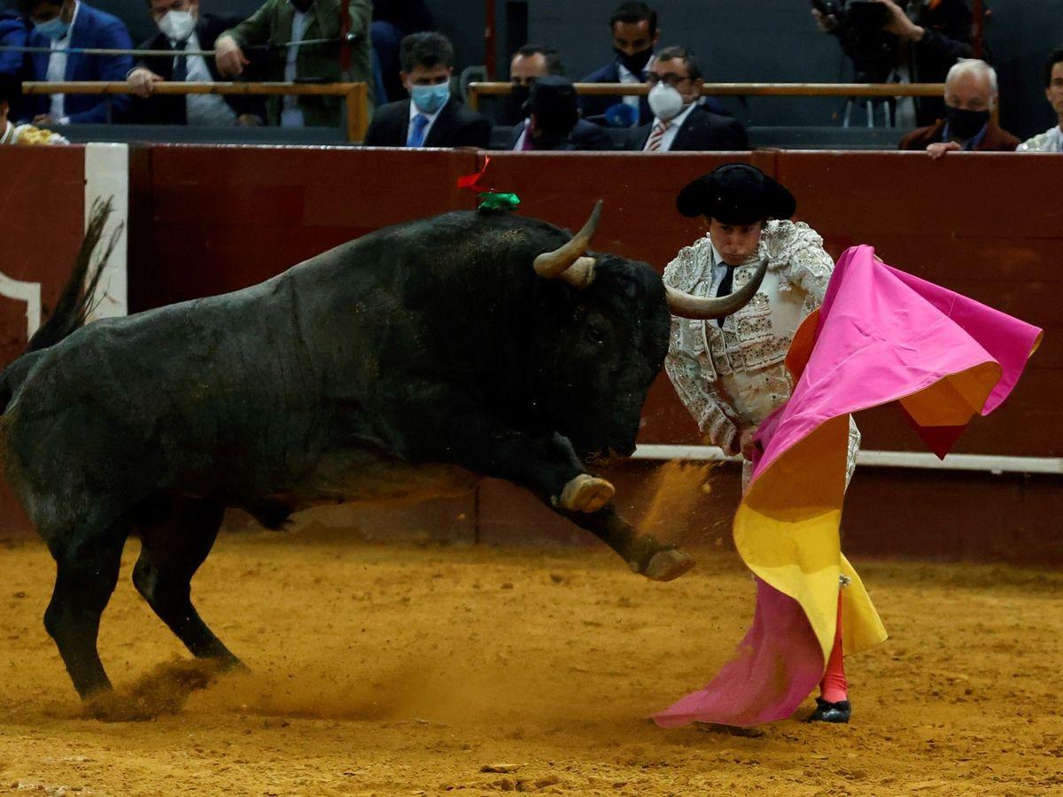 Foto: Román, con el capote. (EFE)