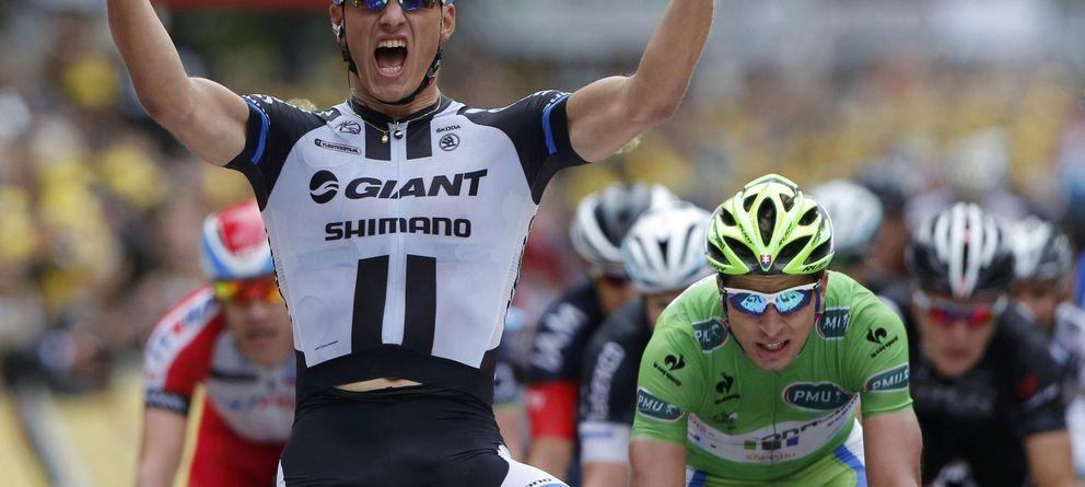 Foto: Marcel Kittel celebra el triunfo en la tercera etapa del Tour (Reuters)