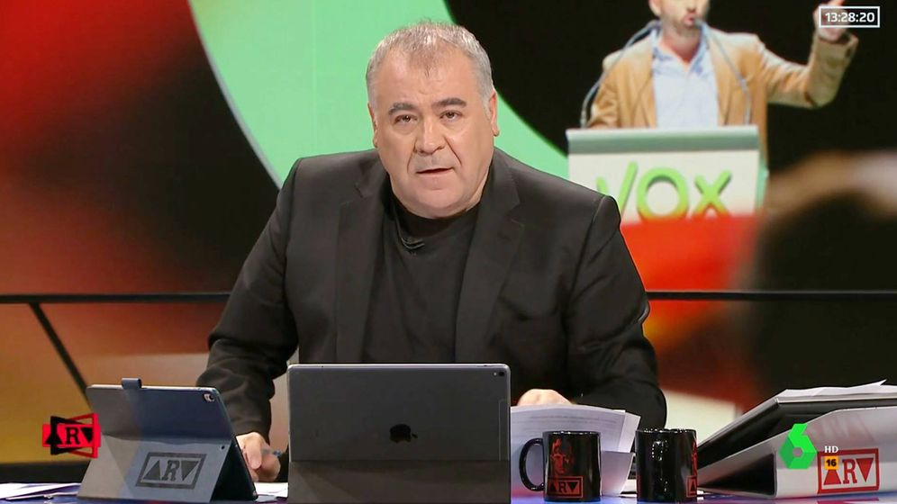 Foto: Ferreras en 'Al rojo vivo. (Atresmedia Televisión)