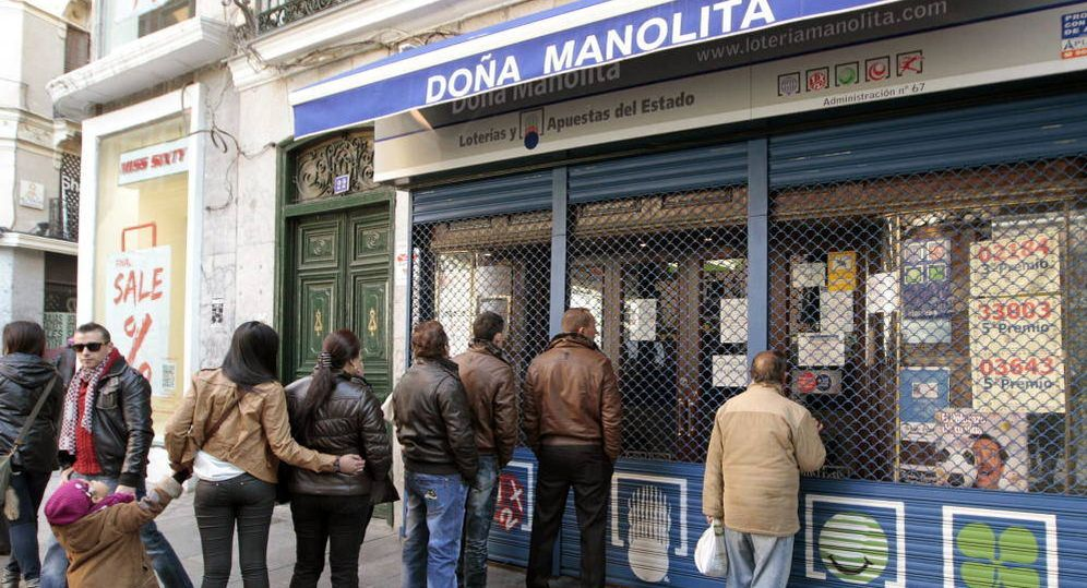 Foto: Doña Manolita, administración del conde de Cabrillas. (Vanitatis)