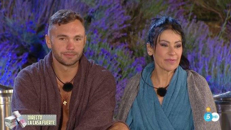 Cristian y Maite Galdeano, en 'La casa fuerte'. (Telecinco)