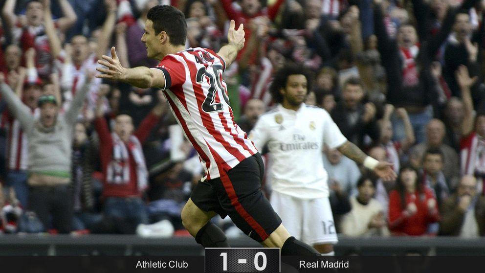 El Athletic castiga la mano floja del Madrid y 'regala' el liderato al Barça