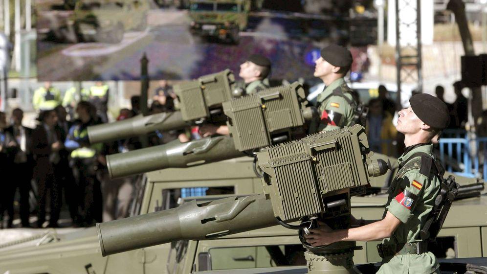 Foto: El Ejército de Tierra en el desfile de la Fiesta Nacional. (EFE)