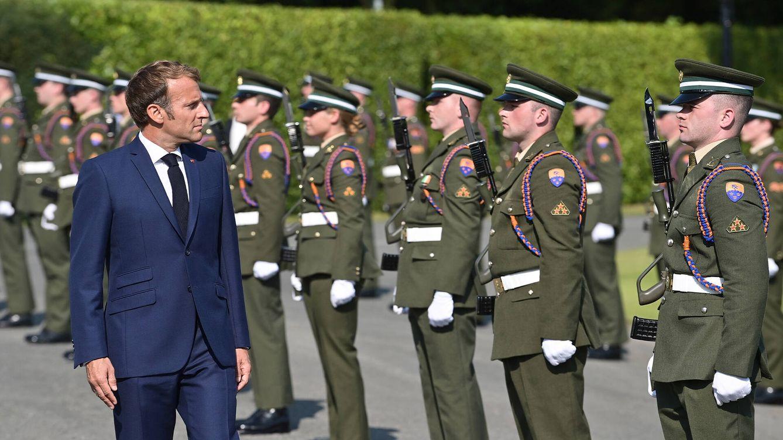Foto: El presidente francés, Emmanuel Macron, durante su visita a Irlanda en agosto. (Getty)