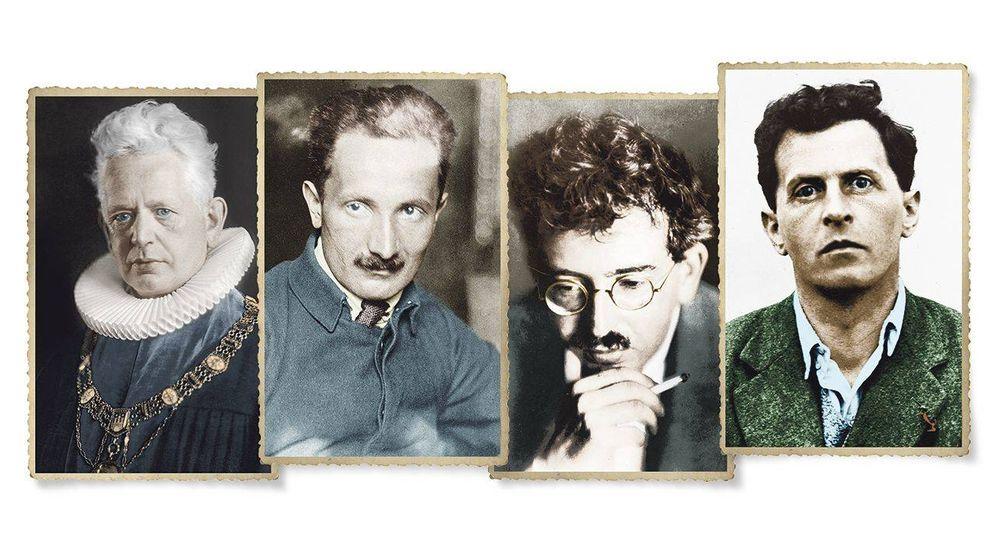 Foto: Ernst Cassirer, Martin Heidegger, Walter Benjamin y Ludwig Wittgenstein
