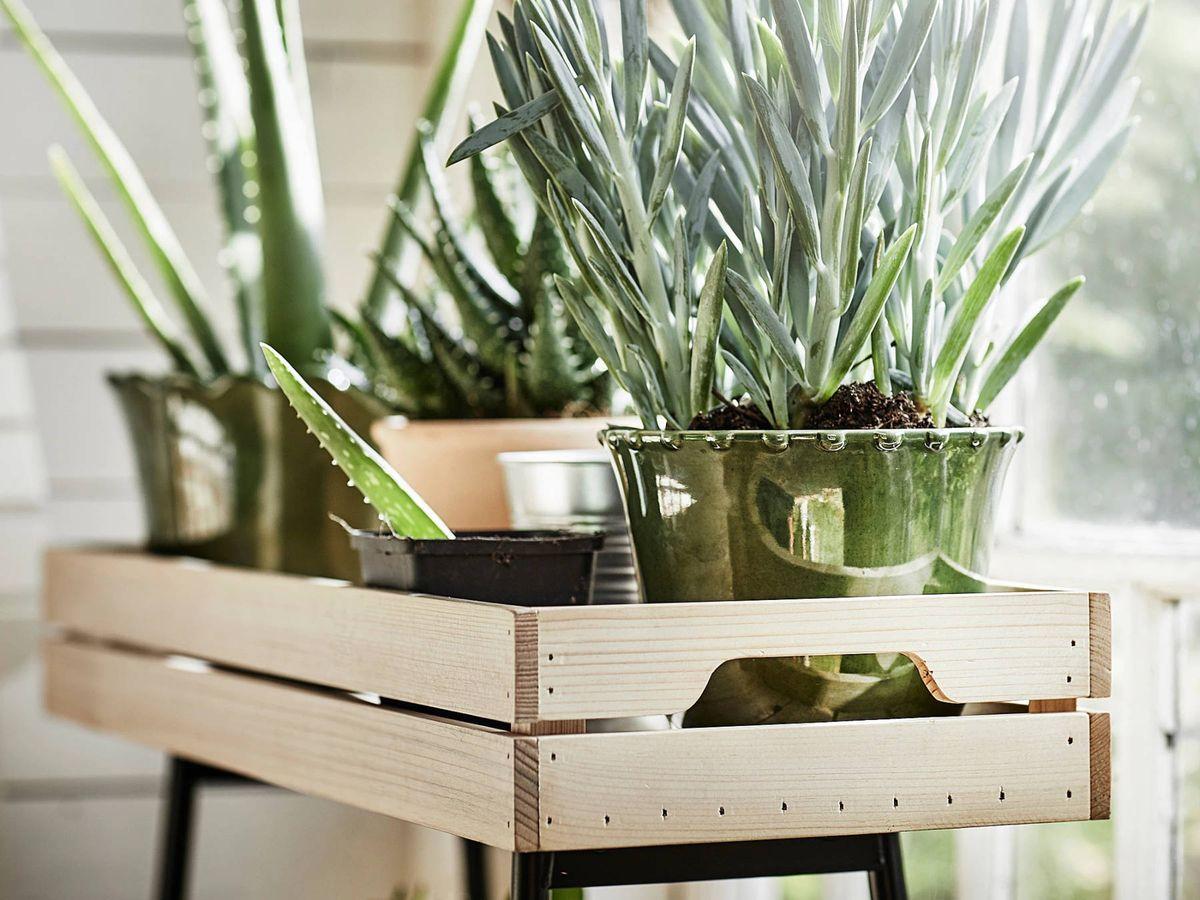 Foto: Soporte para macetas para tu jardín urbano de Ikea. (Cortesía)