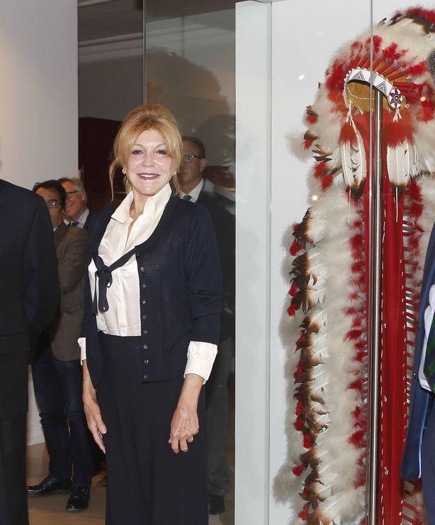 Foto:  Carmen Cervera, en el Museo Nacional de Antropología.