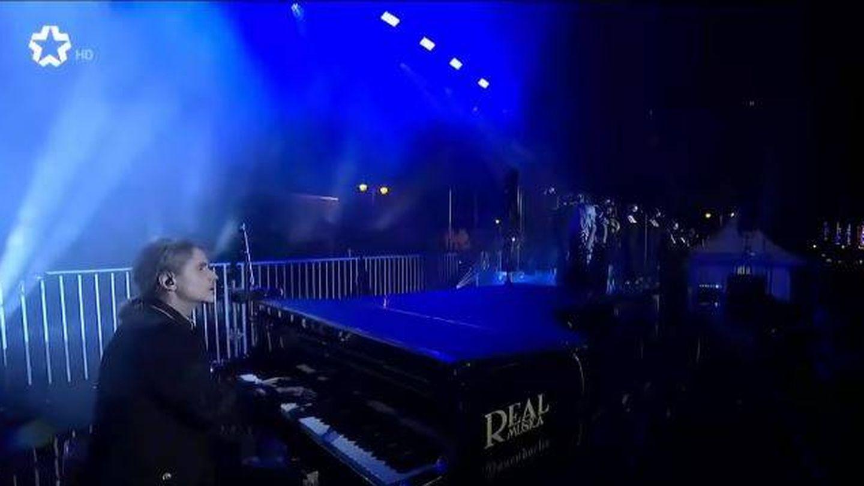 Nacho Cano, durante su actuación. (Telemadrid)