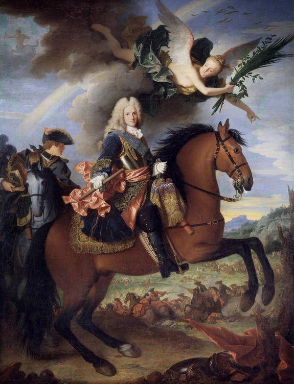 Felipe V a caballo, por Jean Ranc. (Wikimedia Commons)