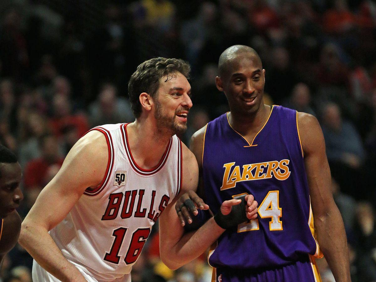 Foto:  Pau Gasol y Kobe Bryant, durante un partido de la NBA. (Getty)