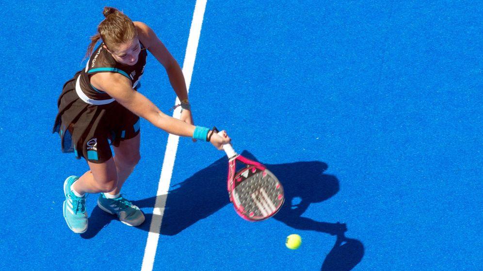 Foto: Marta Ortega en las semifinales del Jaén Open de pádel. (EFE)