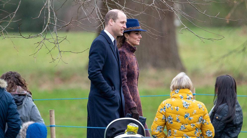 Foto: Los duques de Cambridge, en Sandringham. (Cordon Press)