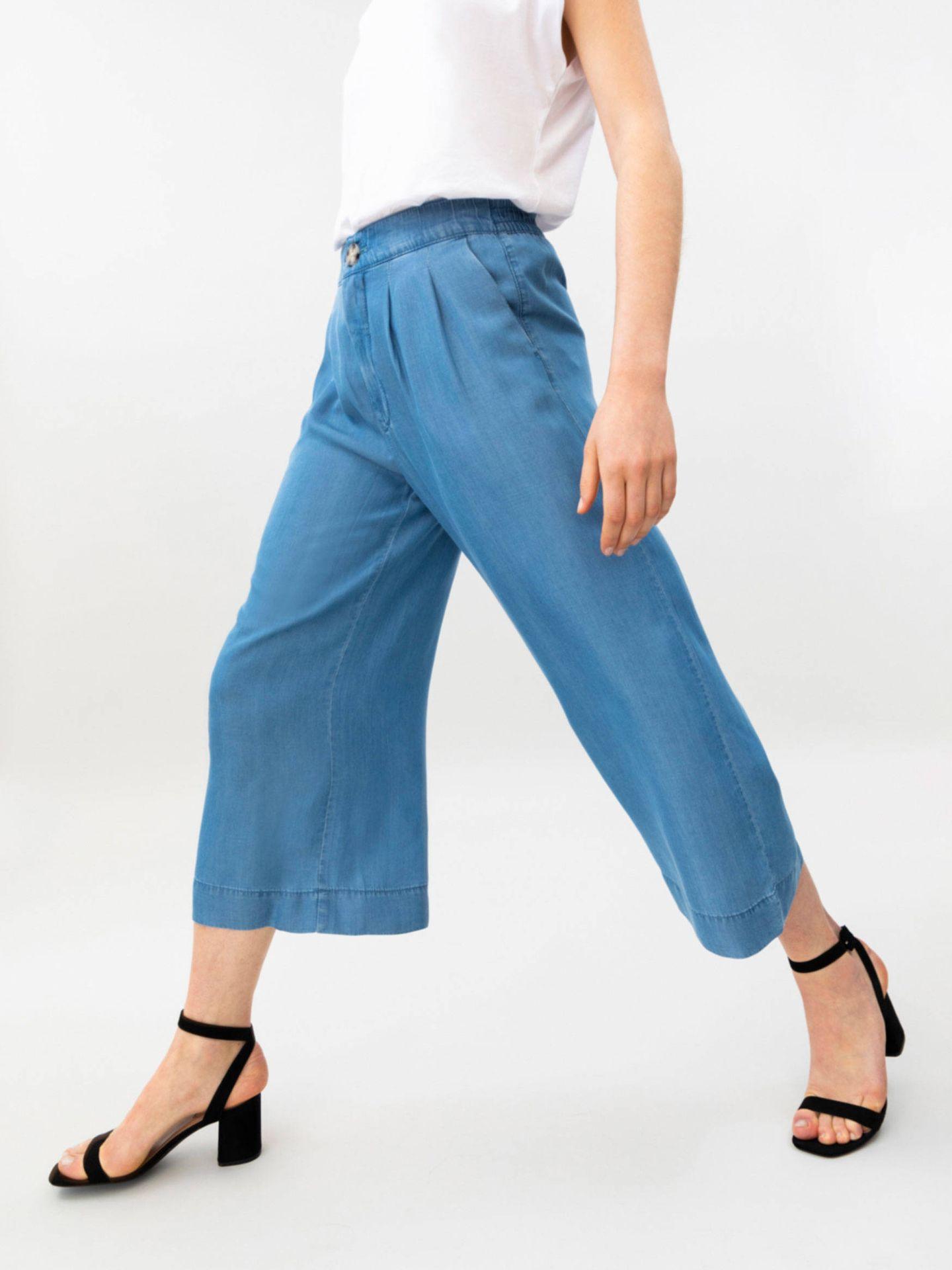 Pantalones vaqueros culotte de Lefties. (Cortesía)
