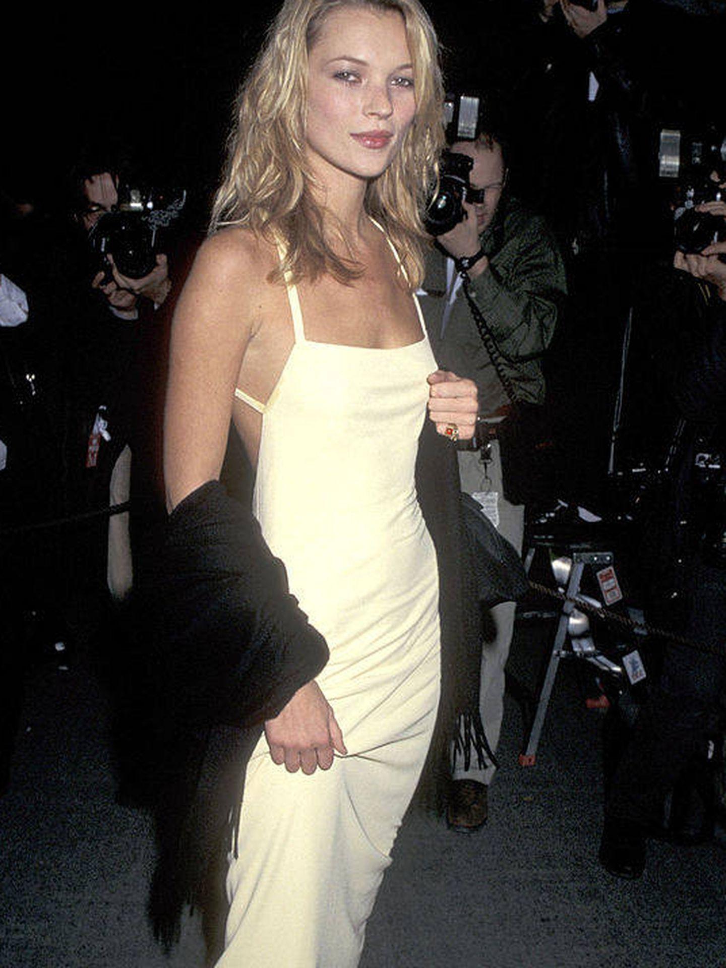 Kate Moss, en la década de los 90. (Getty)