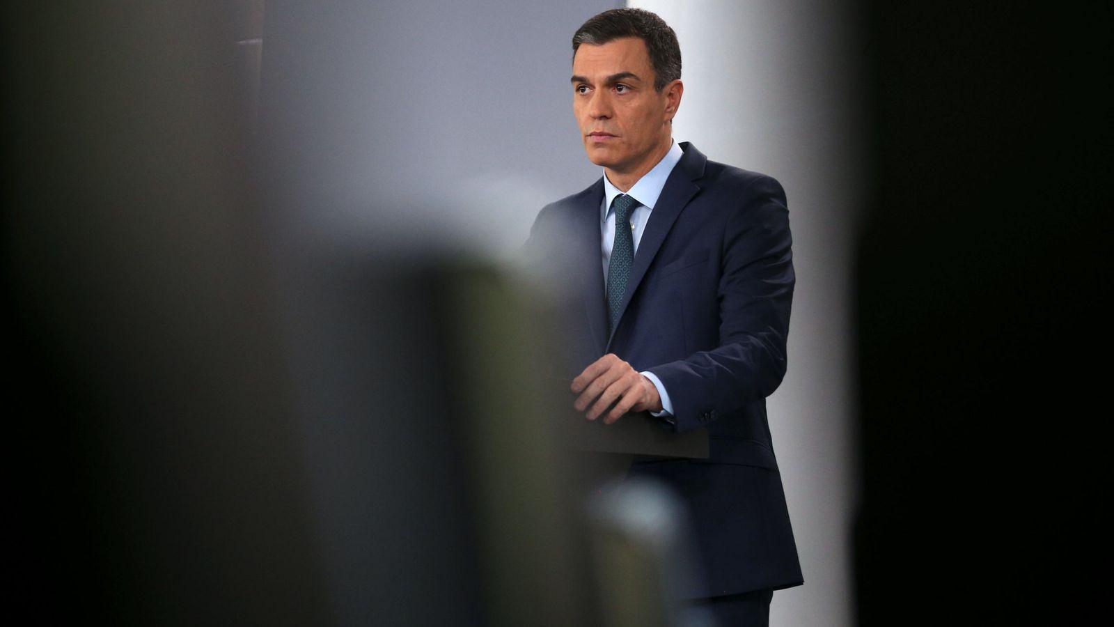 Foto: Pedro Sánchez, durante su comparecencia extraordinaria en la Moncloa, este 26 de enero. (Reuters)