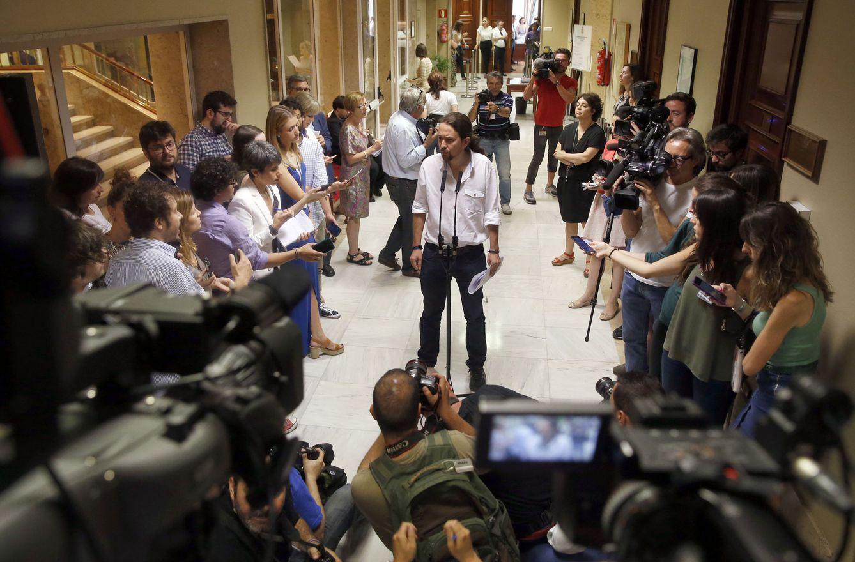 Foto: La expectación acerca de lo nuevo ha sido elevada. Pablo Iglesias la ha aprovechado. (Efe/J.J. Guillén)
