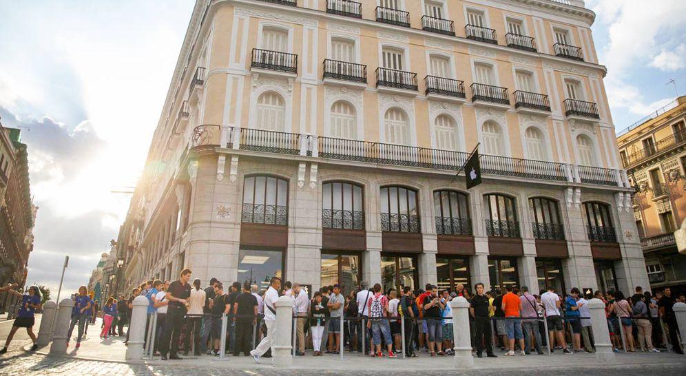 Foto: Tienda de Apple en Sol. (Reuters)