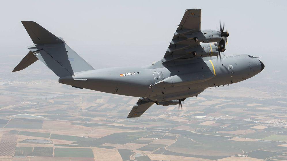 Foto: El primer A400M que se entregó al Ejército español. (Airbus)