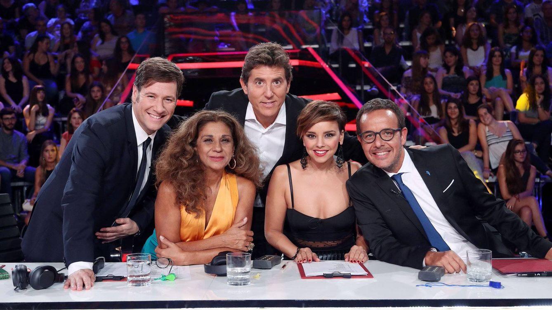 Foto: Jurado y presentador de 'Tu cara me suena 5' (José Irún)