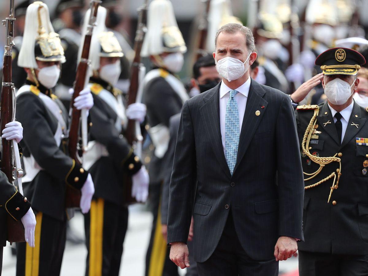 Foto: Felipe VI, durante un viaje oficial reciente. (EFE)