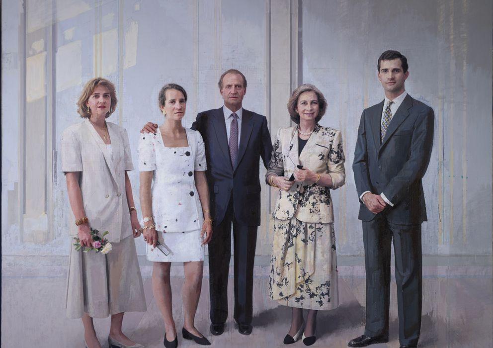 Foto: El cuadro de Antonio López que ha levantado tanta atención: 'La familia de Juan Carlos I', 1994-2014