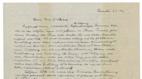 La carta en la que Einstein niega a Dios, a subasta por un millón de dólares