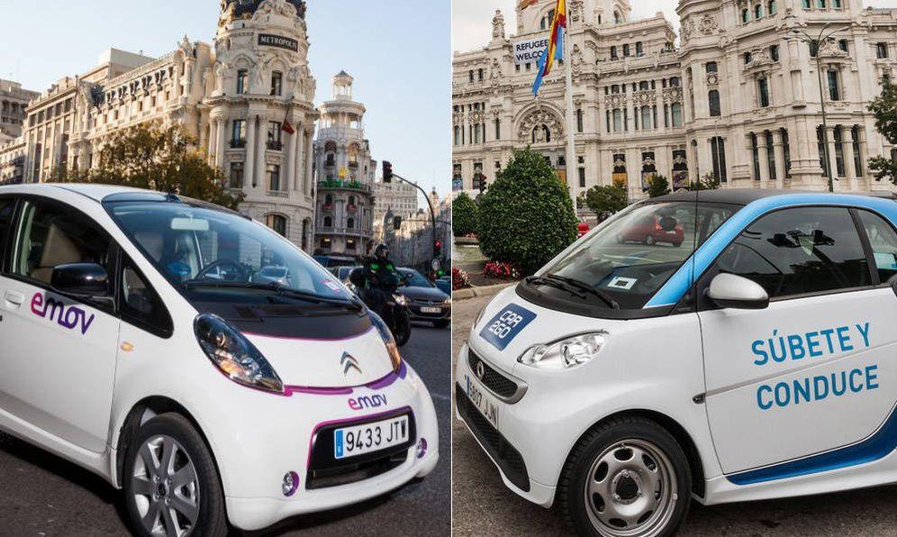 Foto: Emov y Car2Go, dos de los servicios de 'carsharing' más famosos.