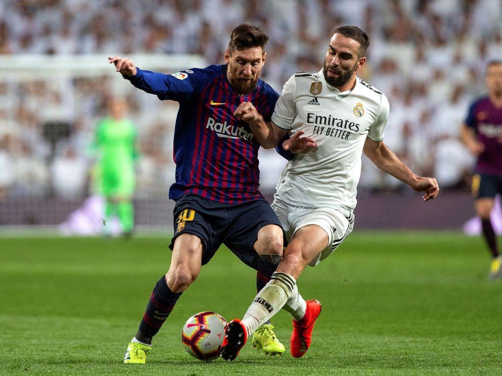 Foto: Leo Messi en su último partido en el Santiago Bernabéu. (EFE)