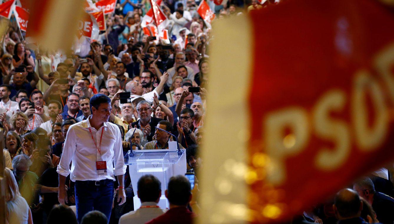 Foto: Pedro Sánchez, durante la clausura del 39º Congreso Federal del PSOE, el pasado 18 de junio en Madrid. (Reuters)